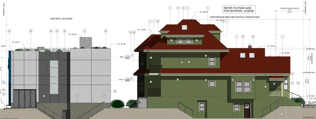 The proposal is to create five units out of what is currently a single family home